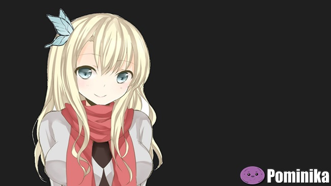 Аниме блондинка и шатенка